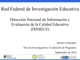 Red Federal de Investigación Educativa