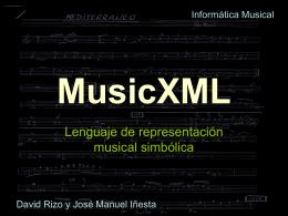 Presentación de PowerPoint - MusicXML