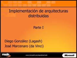 Implementación de arquitecturas distribuidas