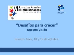 descargar presentación - RADIM . Red Argentina de Instituciones de