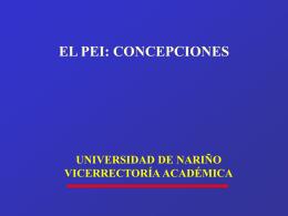 definiciones pei - Universidad de Nariño