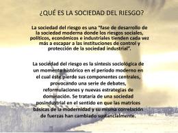 QUÉ ES LA SOCIEDAD DEL RIESGO - FHS-FCE-002