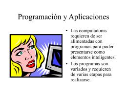 Programación y Aplicaciones