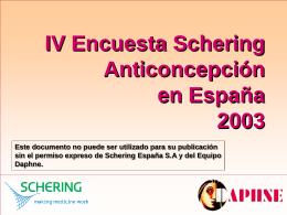 IV Encuesta Schering sobre Anticoncepción en España 2003