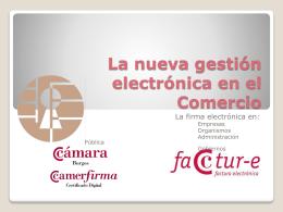 nueva gestión electrónica en el Comercio