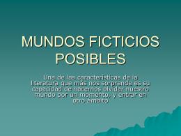 MUNDOS FICTICIOS POSIBLES (M.Vásquez)