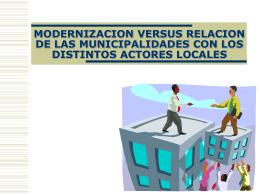 GTZ. Modernización municipal relación sociedad civil