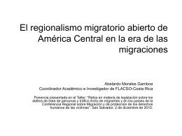 Tendencias globales y regionales de la migración general, de la