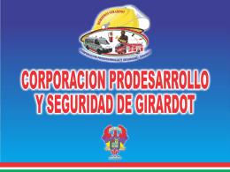 corporacion prodesarrollo y seguridad de girardo nit. 800055259-9