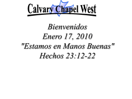 Acts 23: 12-22 - Calvary Chapel West