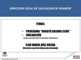 Presentacion Proyecto Basuras Cero - PowerPoint