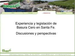 Presentación de Basura Cero – Taller Ecologista