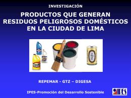 Productos que Generan Residuos Domésticos en la