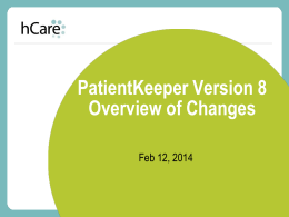 Release 8 Overview of Changes 2014