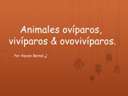 Animales ovíparos, vivíparos & ovovivíparos. - tecnologias