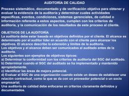 AUDITORIAS DE CALIDAD ALFONSO