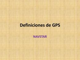Definiciones de GPS