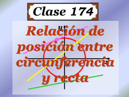 Relación de Posición entre Circunferencia y Recta