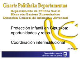 Gipuzkoako Foru Aldundia Diputación Foral de Gipuzkoa