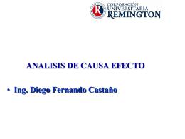 ANALISIS DE CAUSAS - Tecnología y Técnicos en Sistemas Ing