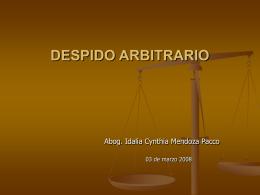 Aspectos Legales sobre el Despido Arbitrario