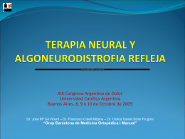 terapia neural y algoneurodistrofia refleja-argentina