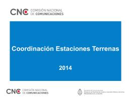 Ver Presentación Coordinación Estaciones Terrenas