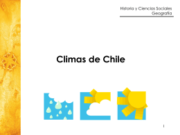 Climas de Chile - Colegio Humberstone