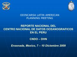Perú - Centro Nacional de Datos Oceanográficos