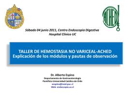 Taller de hemostasia no Variceal-Ached