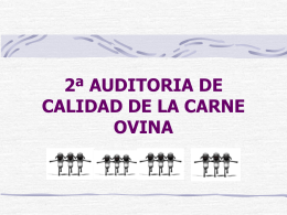 2ª AUDITORIA DE CALIDAD DE LA CARNE OVINA