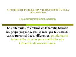 5-factores de integración y desintegración de la vida familiar