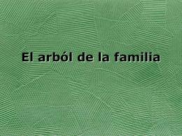 El arból de la familia