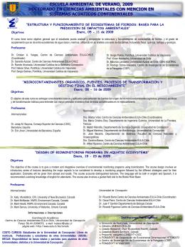 afiche - EULA, centro de ciencias ambientales