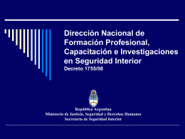 Dirección Nacional de Formación Profesional