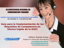 III TRAINAIR Regional Coordination Conference San