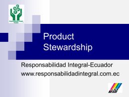 Product Stewardship - Responsabilidad Integral Colombia