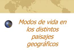 Modos de vida en los distintos paisajes geográficos