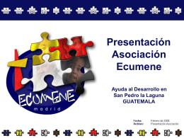 Diapositiva 1 - Asociación Ecumene