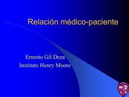Relación médico-paciente - Instituto Oncológico Henry Moore