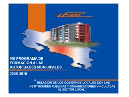Relación de los gobiernos locales - instituciones públicas