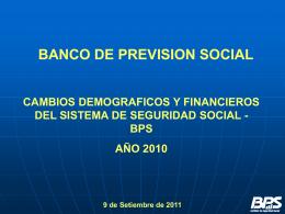 2010 - Banco de Previsión Social