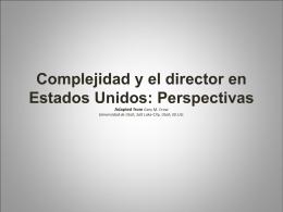 Complejidad y el director a partir del Estados Unidos