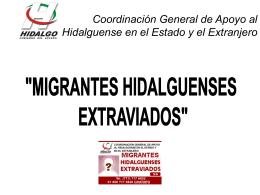 Coordinación General de Apoyo al Hidalguense en el Estado y el