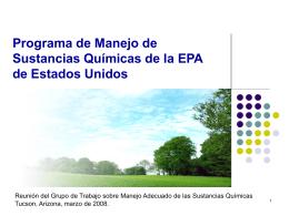 Programa de Gestión de Nanomateriales