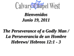Hebrews 12:1-3 - Calvary Chapel West