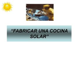 FABRICAR UNA COCINA SOLAR - FEVEA-PCAM