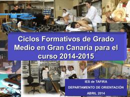 CFGM 2014-15 - IES de Tafira