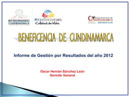 gestion_beneficencia_2012 - Beneficencia de Cundinamarca