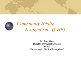 Community Health Evangelism (CHE)